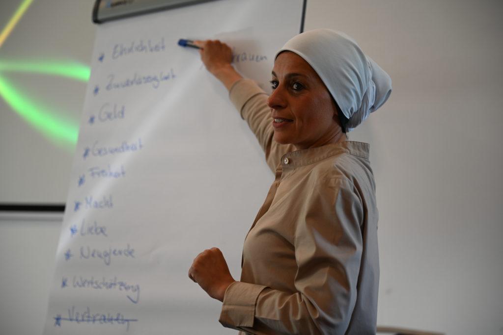 Die eigenen Werte sind der Schlüssel sagt Sahar El-Quasem. Bildquelle: MOLL pro clima