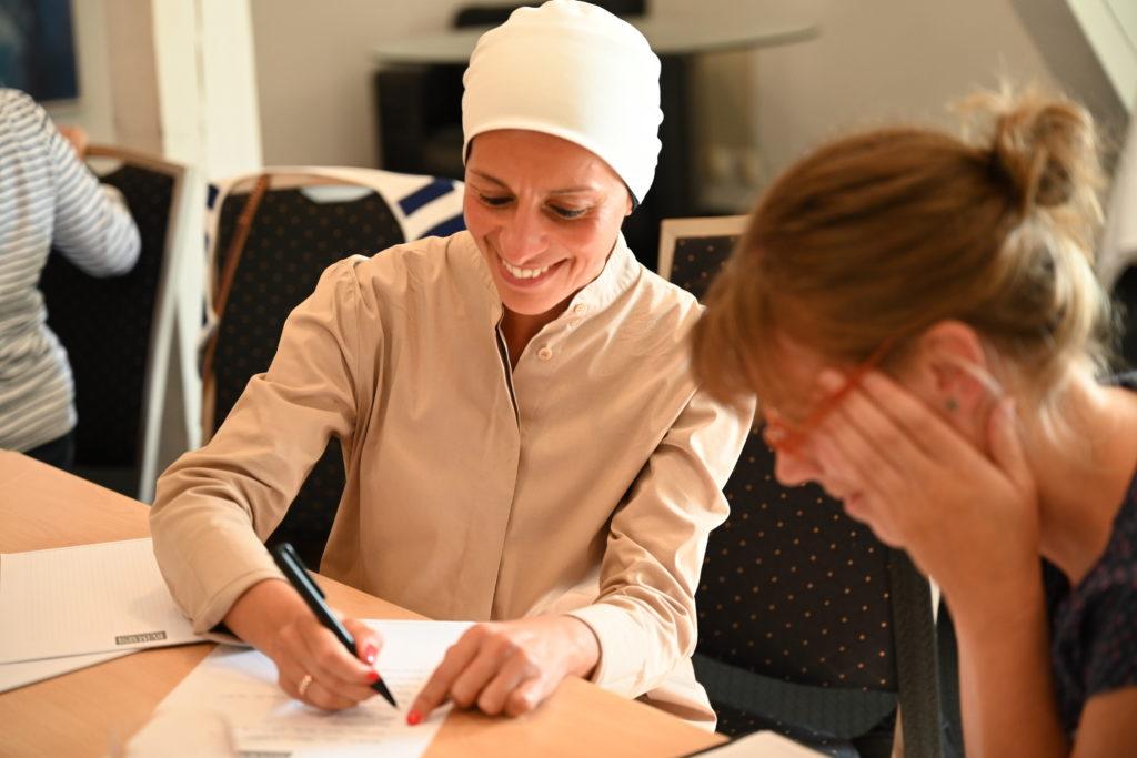 Die Teilnehmer*innen des Workshops waren erfreut und überrascht zugleich: alles, was sie brauchen, um erfolgreich zu sein, steckt in ihnen. Bildquelle: MOLL pro clima